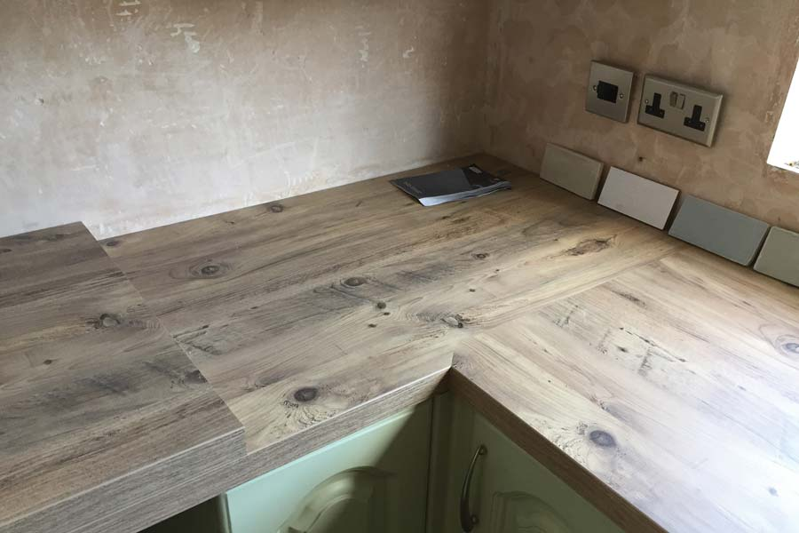 professionally mitered joints of worktop corby and kettering